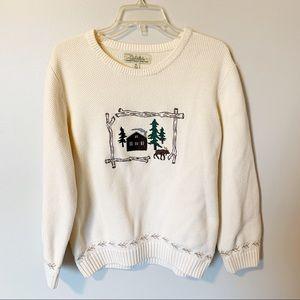 Cabela's   vintage 100% cotton cable knit sweater